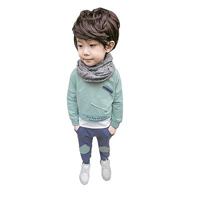 Ouneed® 6-36M Bebe Garcon HIver/Auntome Ensemble Sweatshirt Pull manche longue et Pantalon
