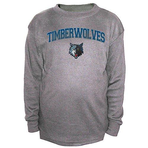 wolves Men's B&T Team Thermal Long Sleeve Shirt, 4X/Tall, Charcoal ()