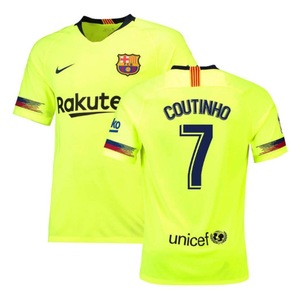 2018-19 Barcelona Away Football Soccer T-Shirt Trikot (Philippe Coutinho 7)