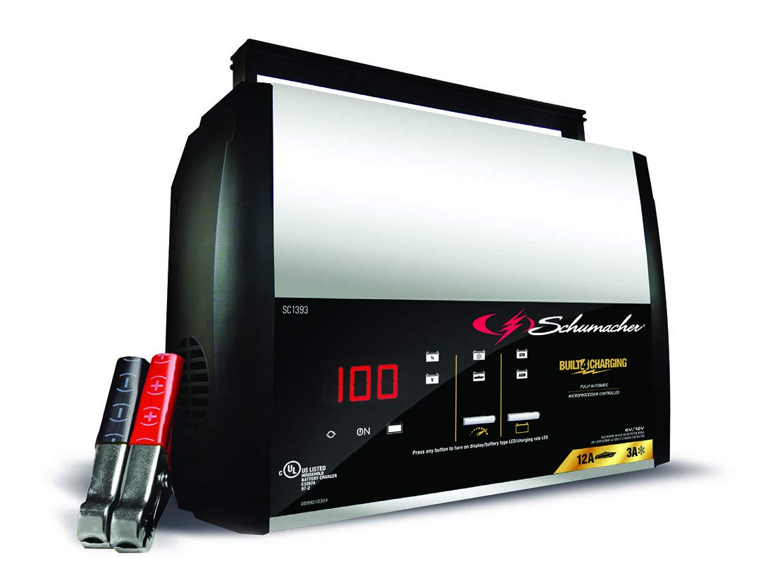 Schumacher SC1393 6/12V Fully Automatic Battery Charger and 12A Maintainer