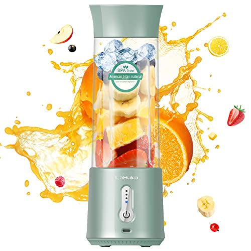 LaHuko Portable Blender Pro 2021 Personal Size Juicer 17Oz Large Capacity, USB Type-C Rechargeable with Six Blades and…