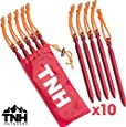 TNH Outdoors 10-Piece Tent Stakes and Bag
