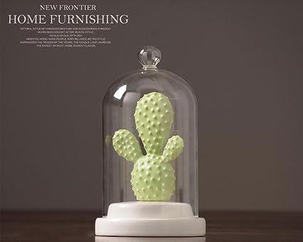 Decorazioni Ufficio Natale : Regalo di natale cactus ceramica decorativa con vetro cloche bell