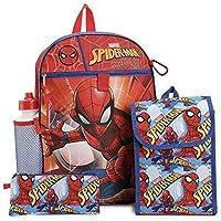 Fast Forward Spiderman 5 Piece Backpack Set Lunch Bag Water Bottle Pencil Bag
