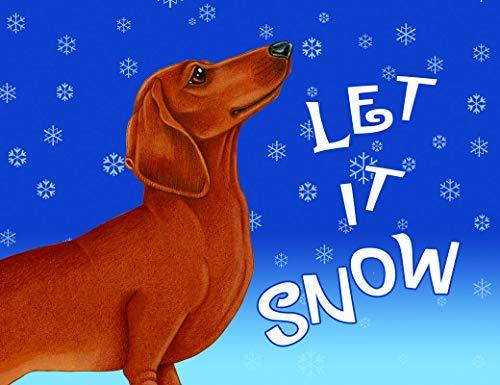 Dachshund Red Fleece - Best of Breed Dachshund Red Let It Snow Fleece Blanket