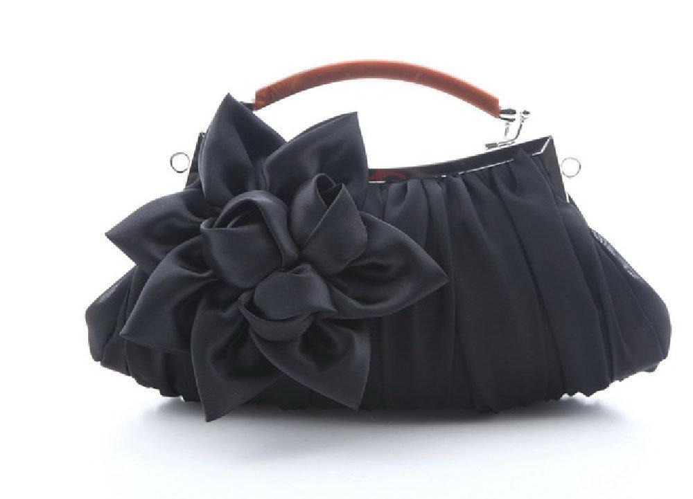 Silk Cocktail Evening Bag Purse Party Handbags Clutches Wedding Clutch Evening Purse Black