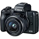 Canon EOS M50 Mirrorless Digital Camera with 15-45mm is STM Lens Black #2680C011