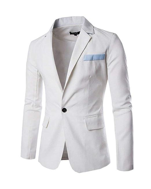 HX fashion Blazer Slim Fit Blazer Clásico para Hombres Ocio Un Tamaños  Cómodos Botón Chaqueta Corta Traje Chaqueta Chaqueta Corta Casual Ropa   Amazon.es  ... 91418544b98