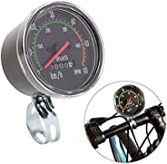 ZJchao New Resettable Analog Bike Speedometer Odometer Black Classic Style Stopwatch for exercycle &