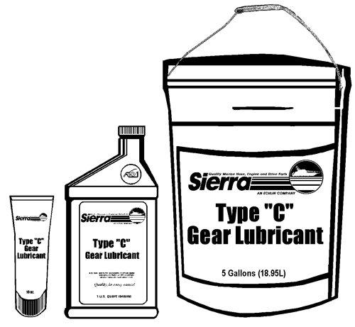 (Sierra 18-9620-2 Type C Gear Lube Oil, 1 Quart)