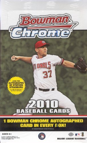 (2010 Bowman Chrome MLB Baseball Sports Trading Cards Hobby Box)