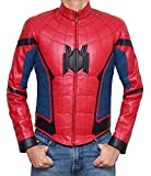 Spider-Man Costume - Cosplay Leather Jacket PU | Red, XL