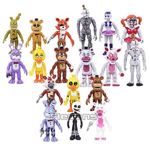 Foxy Freddy Fazbear Bear Toys Five Nights at Freddy's Bonnie PVC Action Figures 18pcs/Set