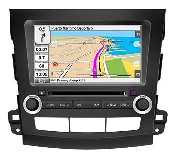 "2DIN 8"" PEUGEOT 4007: NAVEGADOR GPS, MANOS LIBRES BLUETOOTH, CD, DVD"