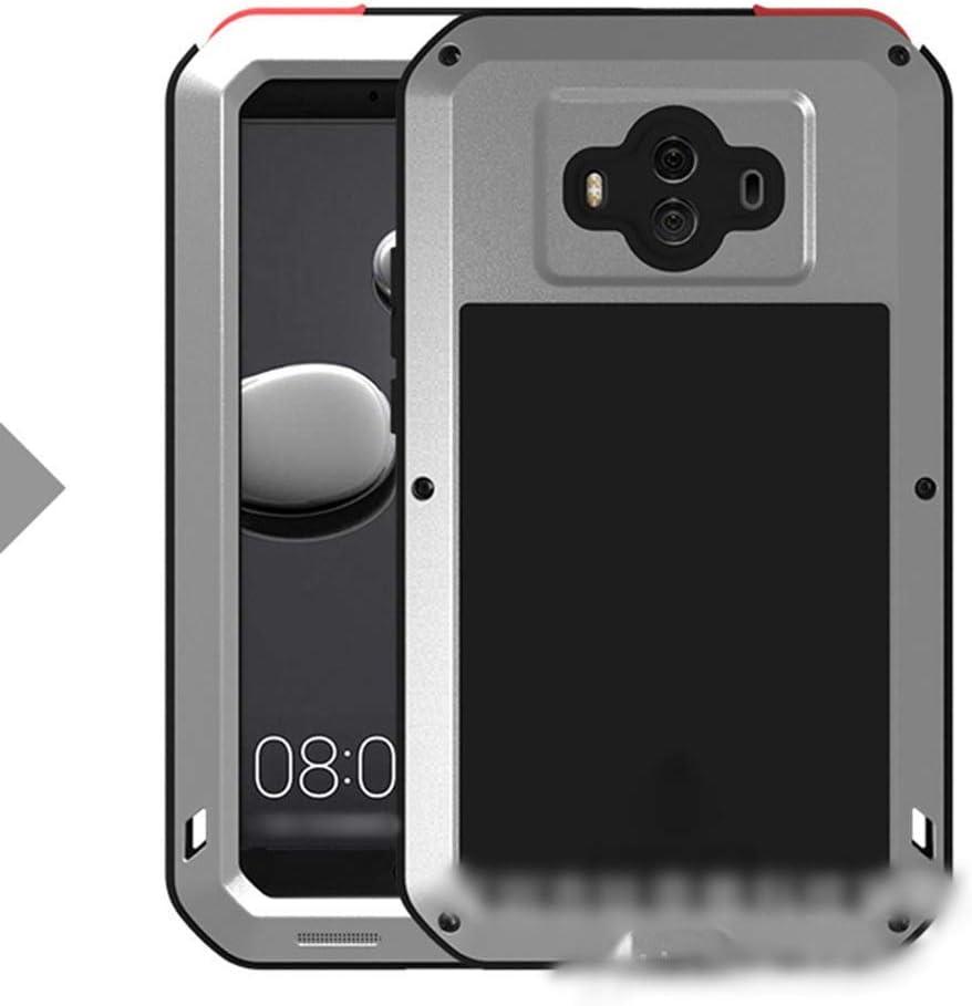 ACHAOHUIXI Huawei P20、P20 Pro、Mate10、Mate10 Pro、Mate9用高級デザイン3つの抗携帯電話シェル メタル保護カバー包括的な飛散防止シェル電話ケース (Color : 銀, Edition : Mate10 Pro)
