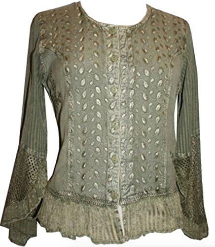 103 B Gypsy Medieval Renaissance Vintage Bohemian Top Blouse
