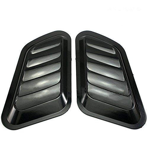 Neverland 2 x ABS Decorative Intake Scoop Turbo Bonnet Vent Cover Hood Auto