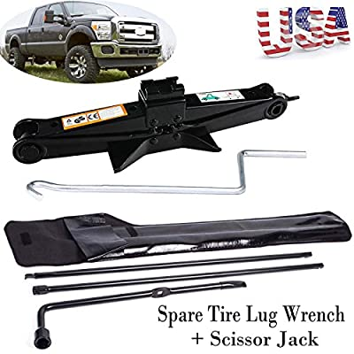 2T Scissor Jack + Tire Lug Wrench Spare Tire Tool Kit For Ford 03-2007 F250 F350 F450 F550 Super Duty