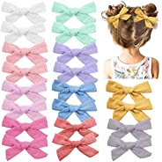 20 Pieces Baby Girls Hair Bows Clips Hair Barrettes Accessory for Babies Infant Toddlers Kids in Pairs