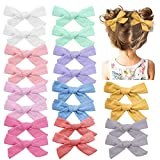 Baby Girls Hair Bows Clips Hair Barrettes Accessory for Babies Infant Toddlers Kids ... (Light Color Set 1-20PCS): more info