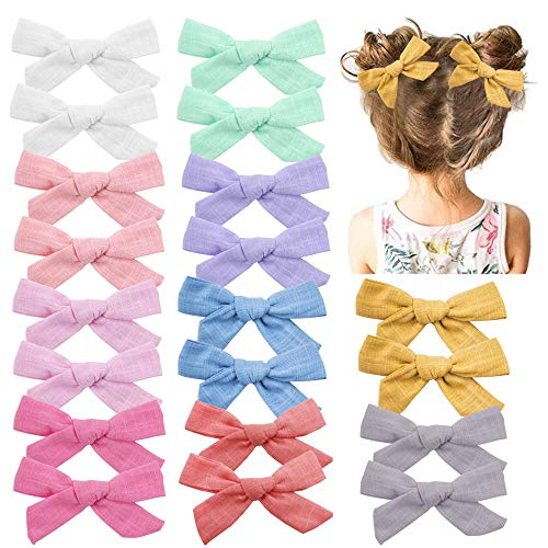 Baby Girls Hair Bows Clips with Alligator Clips Hair Barrettes Accessory for Fine Hair Infant Toddlers Kids (B)