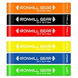 Resistance Loop Bands - Full Set Of 6 - 12 Inch Exercise Bands - New & Improved Premium Professional Grade Resistance Bands for Fitness, Therapy, Stretching, Yoga, Pilates, Strength Training, CrossFit - Built For Comfort and Durability - Includes Full Body Workout Guide and Travel Bag