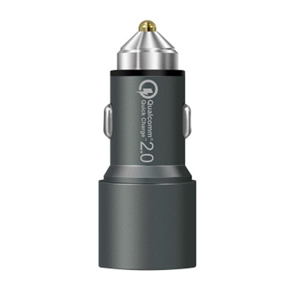 zhang-hongjun,Multi Function Dual USB For Car Charger Head(color:GRAY)
