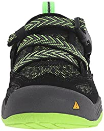KEEN Komodo Dragon Sandal (Little Kid/Big Kid), Black/Jasmine Green, 5 M US Big Kid