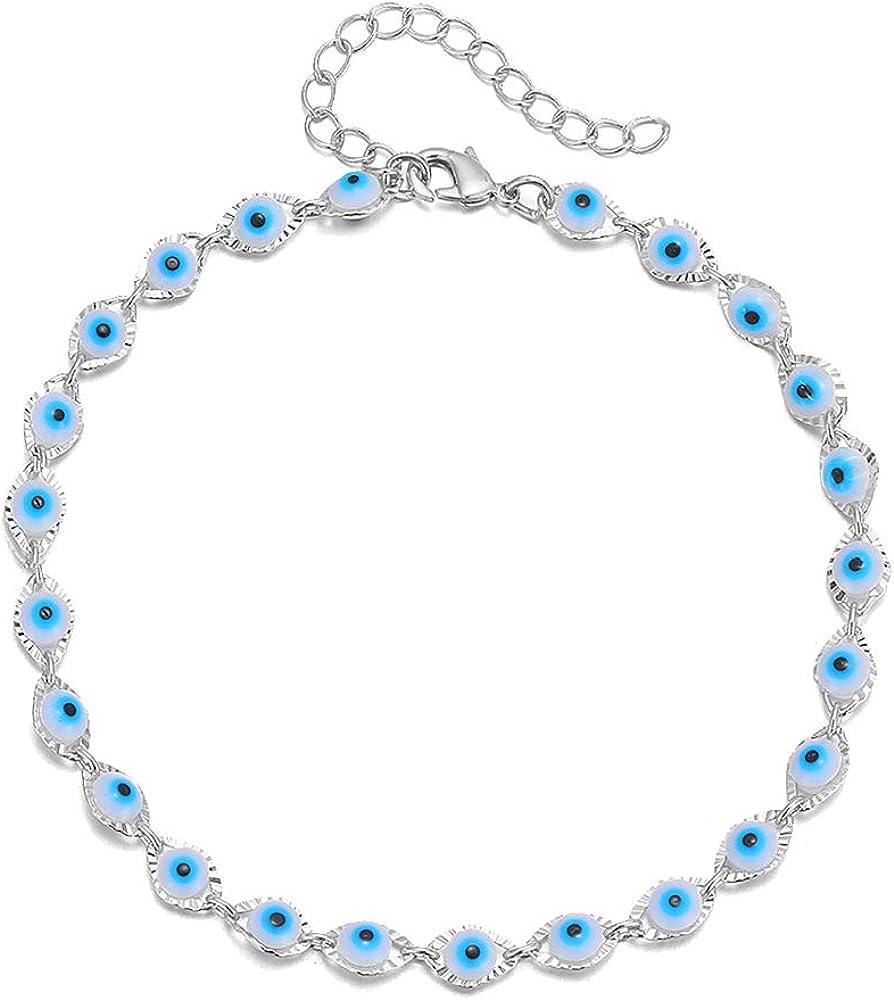 choice of all Evil Eye Bracelet Silver Eye Beads Bracelet Ojo Turco Kabbalah Evil Eye Bracelets for Women Men