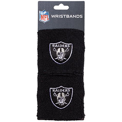 Franklin Sports Oakland Raiders Wristbands - 2.5