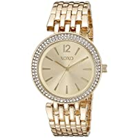 XOXO Women's XO264 Analog Display Analog Quartz Gold Watch