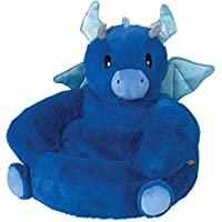 Trend Lab Childrens Plush Character Chair, Dragon, Blue