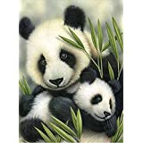 YEESAM ART New 5D Diamond Painting Kit - Panda Mother and Baby - DIY Crystals Diamond Rhinestone Painting Pasted Paint by Num