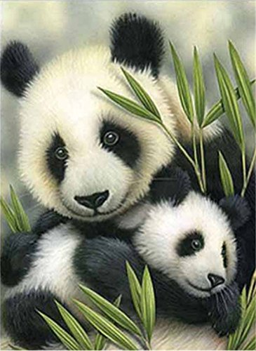 - YEESAM Art New 5D Diamond Painting Kit - Panda Mother and Baby - DIY Crystals Diamond Rhinestone Painting Pasted Paint by Number Kits Cross Stitch Embroidery