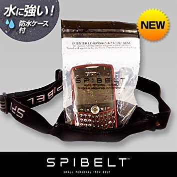 SPI-501-001 [スパイベルト] 伸縮可能で防水性の高いウエストバッグ ブラック