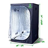 Cheap Hydrokraken Hydroponic Indoor Grow Tent, 600D Heavy Duty Mylar Fabric Grow Room for Efficient Indoor Plant Growth (4ft x 2ft x 5.8ft) …