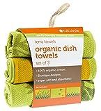 Full Circle Terra Towels Organic Cotton Dish Towel, Set of 3, Green