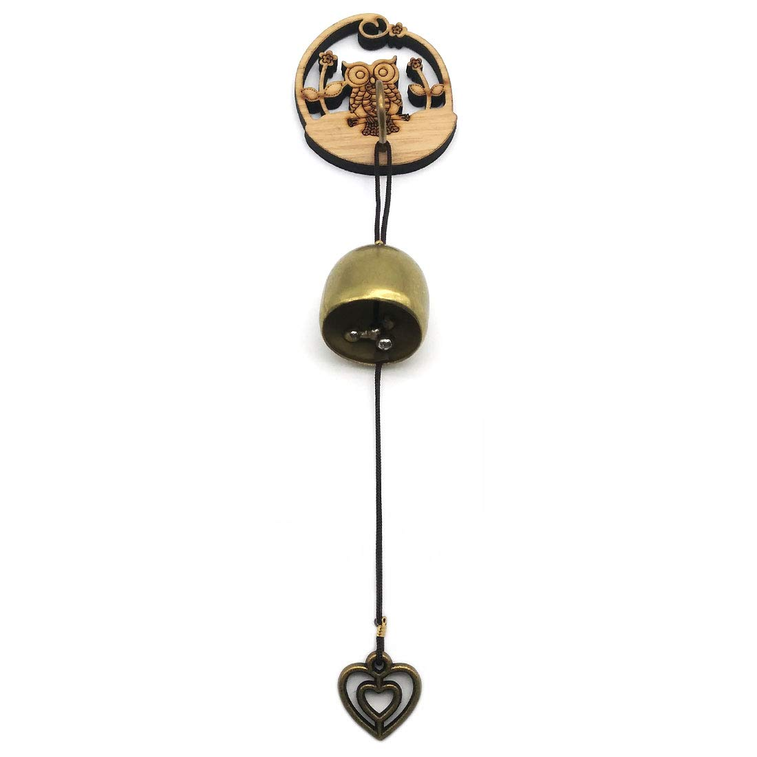 GARASANI Zinc, Steel Bell - Door Bell, Doorbell for Decoration, Front Door, Interior, Exterior Decor, Gold (Owl)