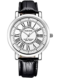 Watch VOEONS Mens Watches On Sale Clearance Black Casual Wrist Watch for Men reloj de mujeres