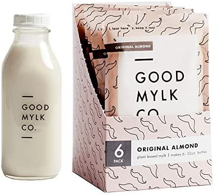 Almond Milk Concentrate Bundle (Bottle Included) - Make Fresh Almond Milk At Home - Makes 6: 32oz Bottles - Organic, Non-GMO, Vegan, Low Glycemic, Sustainable, Keto, Dairy Free (Original + Bottle)