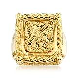 Ross-Simons Italian 14kt Yellow Gold Crest-Style Lion Ring
