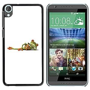 YiPhone /// Prima de resorte delgada de la cubierta del caso de Shell Armor - White Frog Titanic Posing Minimalistic Cute - HTC Desire 820