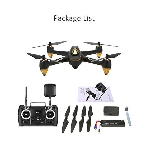Hubsan H501S X4 PRO Brushless FPV Droni Quadricotteri GPS Fotocamera 1080P HD 5.8Ghz con Telecomando High Edition (H501S Nero) 6 spesavip