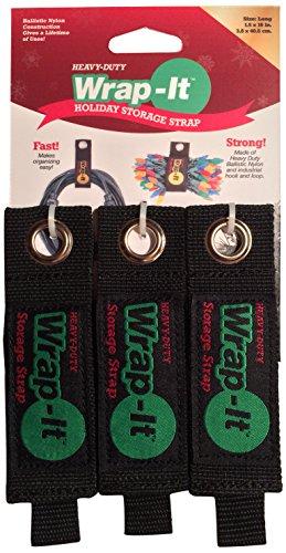 Wrap It Storage Straps 203 20b Straps Regular Black Mh