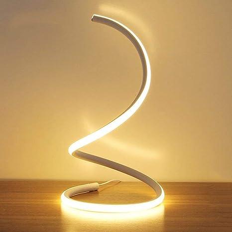TXDZ Lámpara de mesa moderna de 18W LED Lámpara de mesa de ...
