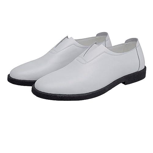 Zapatos Casual Hombre Mocasines de Cuero Genuino Slip-on Oxidado Respirable!: Amazon.es: Zapatos y complementos