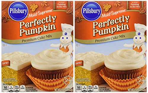 Pillsbury Moist Supreme Perfectly Pumpkin Cake Mix, 15.25 Oz.