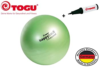 geruchsneutral Pumpe bis 500 kg belastbar TOGU happyback/® Fitnessball inkl made in Germany