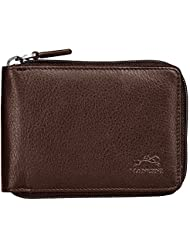 San Diego Mens Zippered Wallet Color: Brown
