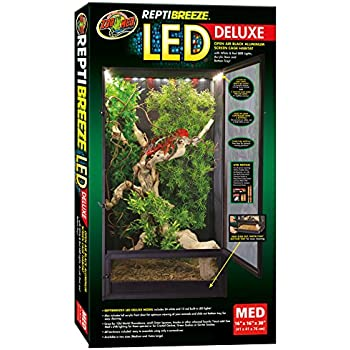 Amazon Com Zoo Med Reptibreeze Led Deluxe Open Air